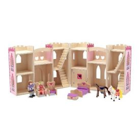 Melissa & Doug Fold and Go Princess Castle Set -Multi-Coloured