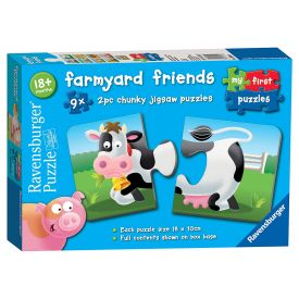 Ravensburger  Farmyard Friends Shaped Jigsaw Puzzles - 9 x 2 Pieces