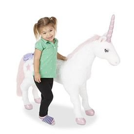 Melissa & Doug Giant Unicorn - Lifelike Stuffed Animal (over 0.5 meters tall)