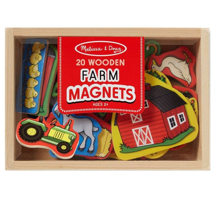 Melissa and Doug  - Wooden Farm Magnets in a Box