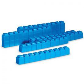 Base Ten Rods Interlocking  - Set of 50