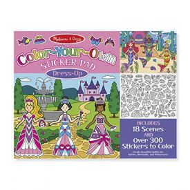 Colour Your Own Sticker Pad Dress Up