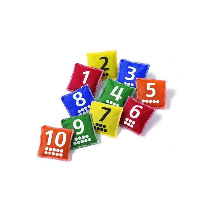 Number and Dot Bean Bags