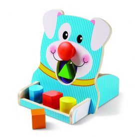 Wooden Spin and Feed First Play Shape Sorter