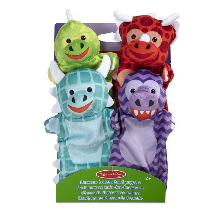 Dinosaur Friends Hand Puppets (Set of 4)