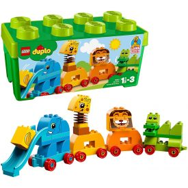 Lego Duplo My First Animal Brick Box Storage Set with Zoo Train
