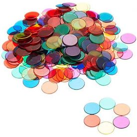 Learning Resources Transparent Counters (6 Colours)