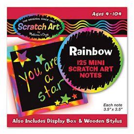 Rainbow Mini Scratch Art Note Cubes