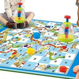 Traditional Snakes and ladders Giant Indoor/Outdoor Game, with Large Dice dome