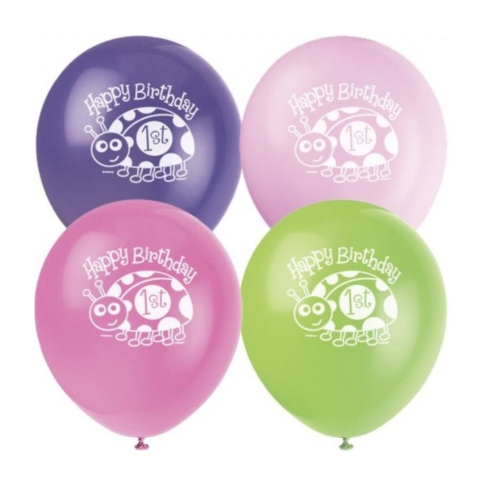 Ladybug First Birthday Party Balloons