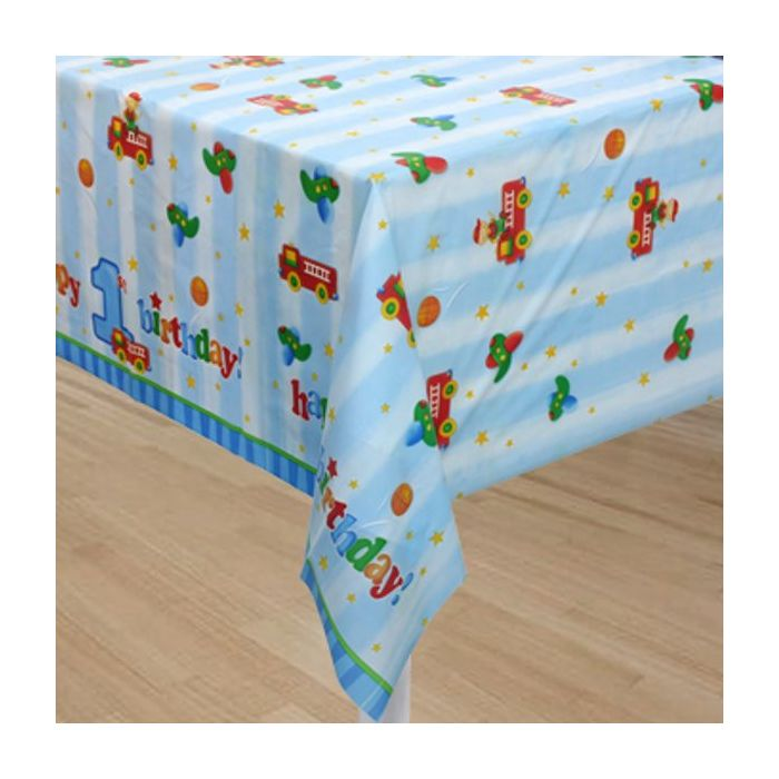 Fun at One Boy Table Cover