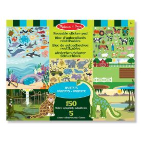 Melissa and Doug - Habitats Reusable Sticker Pads