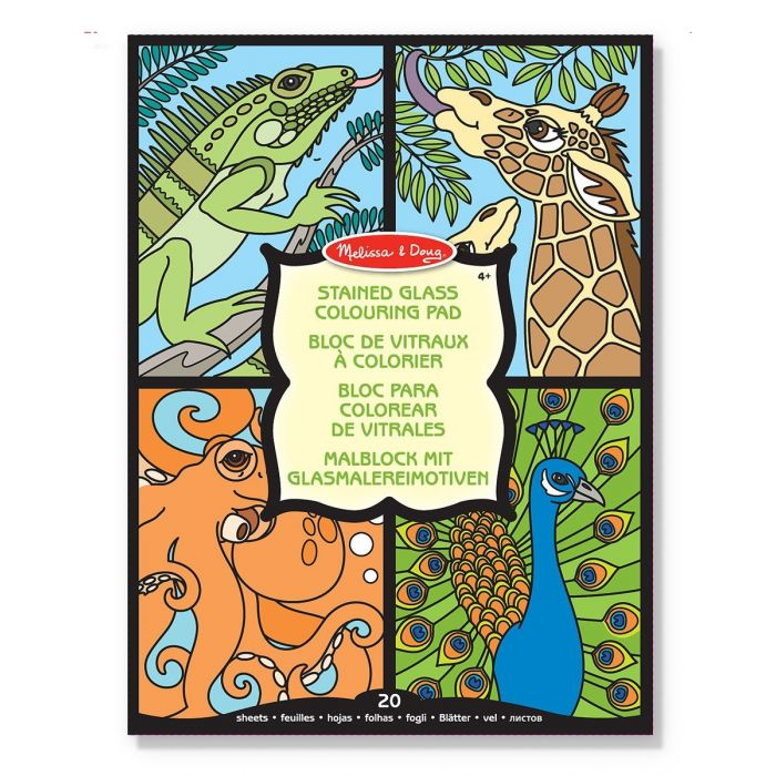Melissa and Doug - Colouring Pad - Stained Glass - Animal