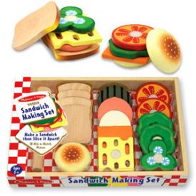 Melissa and Doug - Wooden Sandwich Making Set