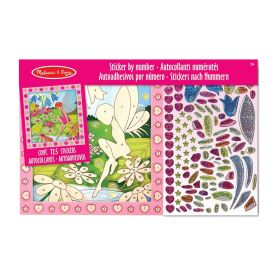 Melissa and Doug - Peel and Press Sticker By Number Flower Garden Fairy