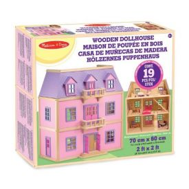 Melissa and Doug - Multi Level Wooden Dollhouse