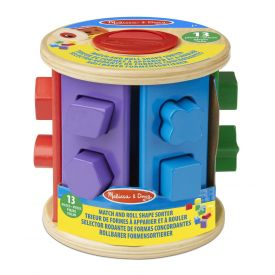 Melissa and Doug - Match and Roll Shape Sorter