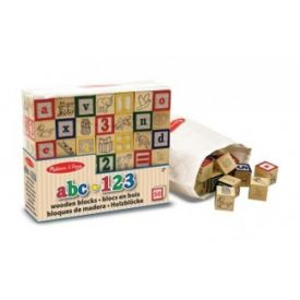 Melissa and Doug - Wooden abc 123 Blocks